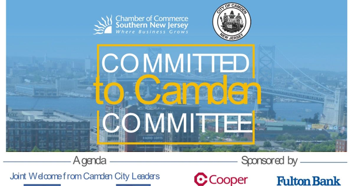 camden, mayor, city council,small business, entrepreneur, business, cooper hospital, fulton bank, american water, parker mccay, waterfront technology center